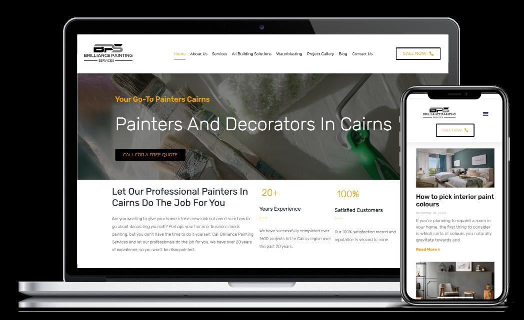 Brillance Painting Servies website design template