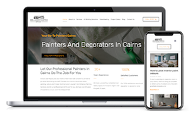 Brilliance Painting Servies website design template copy