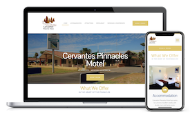 Cervantes Pinnacles Motel website design template copy